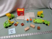 Vintage Fisher Price Little People 944 Lift Load Lumber Yard Construction Car B