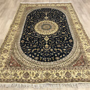 Yilong 6'x9' Handknotted Silk Carpet Floral Home Decor Oriental Area Rug Y490c