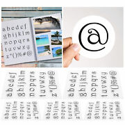 5x Transparent Stamp Tpr Diy Scrapbooking Diary Lower Case Alphabet Clear Rubber