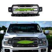 For Ford F-150 F150 2018-2020 Black With Light Front Center Mesh Grille Grill
