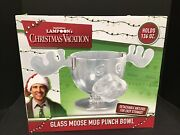 National Lampoonand039s Christmas Vacation Clark Griswold Glass Moose Mug Punch Bowl