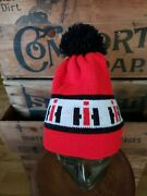 Vtg Knit Hat Advertising International Machinery Agriculture Winter Cap Tuque