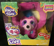 Rollo The Sloth Little Live Pets Repeats What You Say Tumbles And Rolls Pink 💕