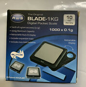 Blade1kg-blk Weigh Scales Black Blade Digital Pocket Scale American Weight Scale