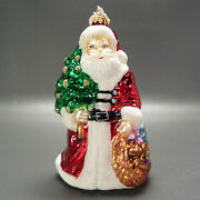 Nordstrom Glass Christmas Ornament Santa Claus Made In Poland 6