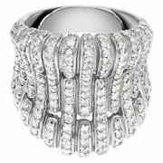 Unique Fan Design 18k White Gold Ring With Over 1.0 Carat In Micro Pave Set...