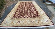 Spectacular Estate Vintage Large Handmade Wool Rug Carpet - Rare Pattern 18and039x12and039