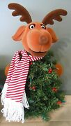 Singing Animated Dancing Reindeer Christmas Tree 22 In Tall Lights-excellent