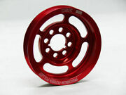 Obx Precision Underdrive Crank Pulley For 98-02 Vw Passat 2.8l Audi A4 A4 Red
