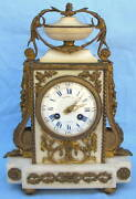 A Very Fine French Raingo Fres 19th Century French Marble And Bronze Table Clock