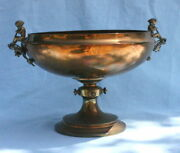 A Very Fine Shreve Crump And Low 19c Sterling Gilt Silver Cherubs Bowl
