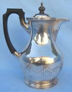 A Fine Walker And Hall 1909 English Sterling Silver Fine Teapot