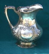 An Important 1896 Gorham American Sterling Silver Repousse Pitcher