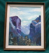 Gregory Peck 1968 Signed And Dated Oil On Board Painting  Fine And Rare