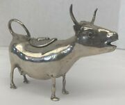 Magnificent 1920s German 800 Silver Eyes Cow Creamer By Bandz