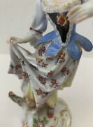 Meissen Original 19 Century German Hand Painted Porcelain Of A Young Girl