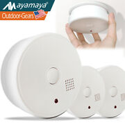 Smoke Detector Sensor Alarm Fire Alert Battery Operated Home Safety 5 Year 1/3pc