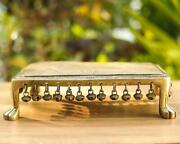 Traditional Brass Intricate Detailing Altar Table For Home Decoration