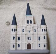 N. O. Crescent City Christmas Village St. Louis Cathedral Replica Collectible