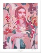 James Jean - Lady With An Axolotl - Giclee Print Sold Out Limied Edition 418/747