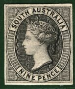 South Australia State Qv Stamp 9d Die Proof 1860 Perkins Bacon Rare B2white2