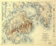 1931 Map Of Acadia National Park Hancock County Maine | Topographic Map Of Mai