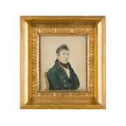 Antique Portrait Of Thomas Brooks Pastel C.1809 - Collection Of A Country House