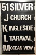San Francisco 1970andrsquos Vintage Sf Muni Railway Bus Route Roll Sign Section