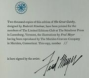 Signed/limited  Fred Meyer  F. Scott Fitzgerald  The Great Gatsby  Lec 1980