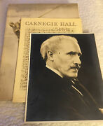 Toscanini Lot Original Photo 1943 - Carnegie Hall Program And Directs Red Cross