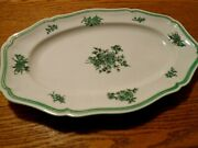 Rosenthal Germany Chippendale Green Bloom /flowers 13 Oval Serving Platter