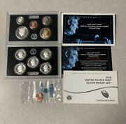 2019 S Silver Proof Set W Box Coa And W Reverse Lincoln Penny Cent 19rh 11 Coins