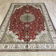 Yilong 6and039x9and039 Classic Red Handmade Silk Carpet Family Room Floor Area Rug L074c