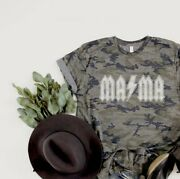 Camouflage Mama Womens Graphic Oversized Relaxed Casual Tee T-shirt