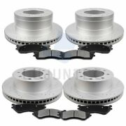 Front Rear Ceramic Pads And Rotors Brake For 2003 2004-2008 Dodge Ram 2500 3500
