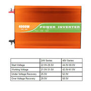 4000w Pure Sine Wave High Frequency Car Solar Inverter 110v Output Household