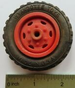 Original Hard Rubber With Plastic Hub Wheel For Wyandotte Toy Truck