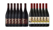 California Pinot Noir Red Wines - Athena And Prophecy - 12 X 750 Ml Bottles
