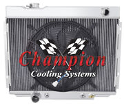 4 Row Sz Champion Radiator W/ 16 Fan For 1967 68 69 1970 Ford Mustang V8 Engine