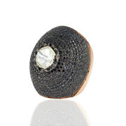 18 Kt Solid Rose Gold 6.56ct Diamond Sterling Silver Designer Dome Ring Jewelry
