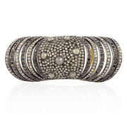 18k Gold 4.30ct Pave Diamond Knuckle Ring Sterling Silver Fashion Jewelry