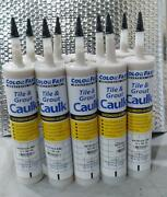 Color Fast Tile And Grout Caulk Siliconized Acrylic 10.3oz Lot Of 10