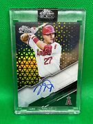 2020 Topps Chrome Black Mike Trout Auto Gold Refractor Parallel 50/50 Angels