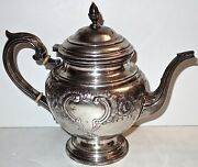 Antique International Sterling Hand Chased Lord Saybrook 9 Teapot750g26.4oz