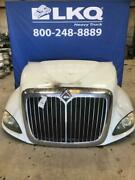 White 2012 International Prostar 122 Hood Assembly W/ Headlamps And Grille
