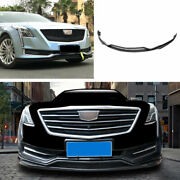 Fit For Cadillac Ct6 2016-2018 Abs Black Front Bumper Lip Spoiler Bodykit Refit