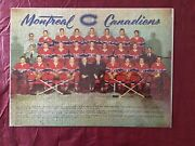 Vintage Jigsaw 1950s Rare Puzzle. Montreal Canadiens Complete.