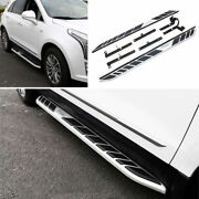Silver Aluminum Side Step Running Board Nerf Bar Protect For 16-20 Cadillac Xt5