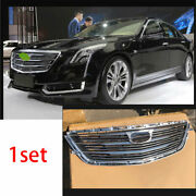 For Cadillac Ct6 2016-2018 Chrome Front Center Mesh Grille Grill Cover Trim 1pcs
