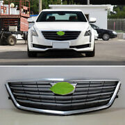 For 2016-2018 Cadillac Ct6 Silver Front Center Mesh Grille Grill Cover Trim 1pcs